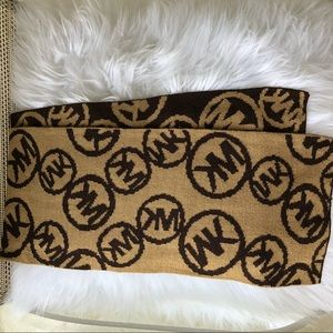 BNWOT authentic Michael Kors brown and tan scarf